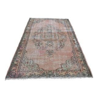 Vintage Turkish Handwoven Carpet - 5′6″ × 9′6″