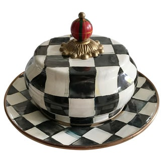 MacKenzie-Childs Butter Dish in Courtly Check