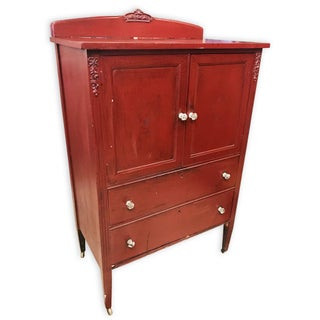 Antique Victorian Red Gentleman's Chest of Drawers