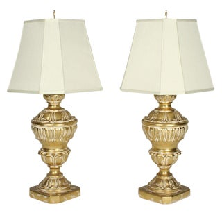 Frederick Cooper Parcel Gilt Plaster Table Lamps - a Pair