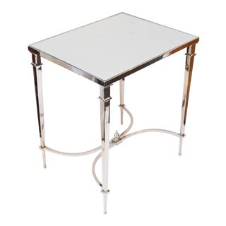 Global Views Nickel and Mirror French Leg Table
