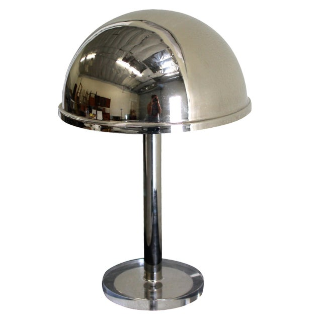 Charles Hollis Jones Chrome Dome Lamp - Image 1 of 3