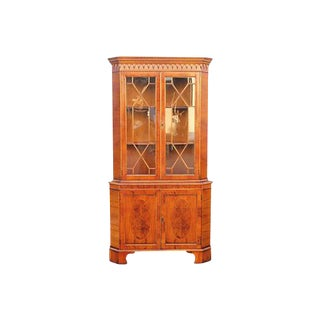 1950's Mid-Century Modern Corner Curio Cabinet