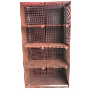 Vintage Burnt Orange Metal Shelf