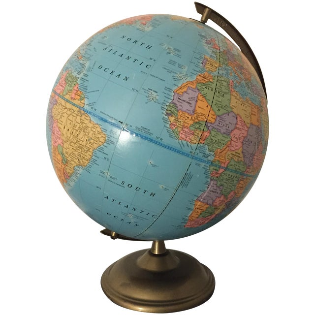 Vintage World Globe - Image 1 of 3