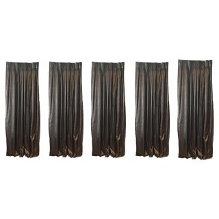 Metallic Charcoal & Bronze Drapes - Set of 5