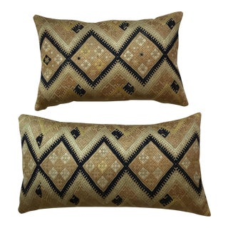 Vintage Hand Embroidery Suzani Pillows - A Pair