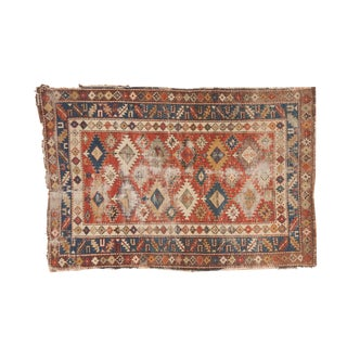 "Antique Caucasian Shirvan Rug - 3'6"" x 5'2"""