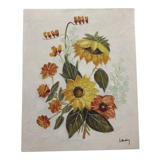Vintage Original Floral Painting