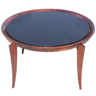 French Art Deco Round Cocktail Table