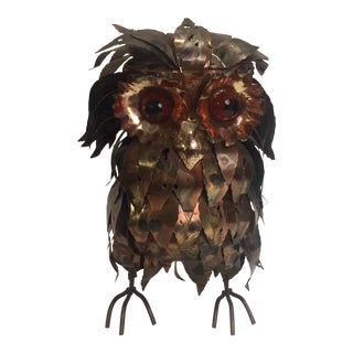 Vintage Decorative Metal Owl