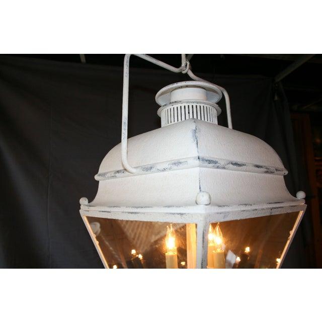Large White Colonial Lantern - Image 5 of 7