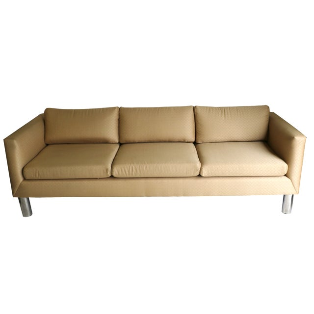 Mid Century Modern Chrome Leg Sofa - Image 1 of 9