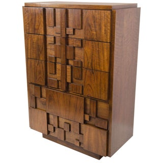 Bold and Sculptural Highboy Dresser