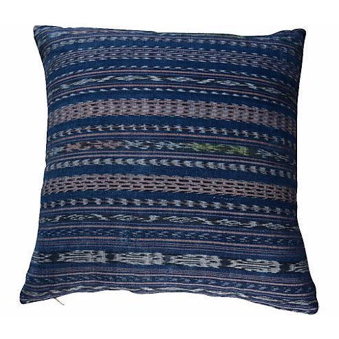 Handwoven Indigo Pillow - Image 1 of 2