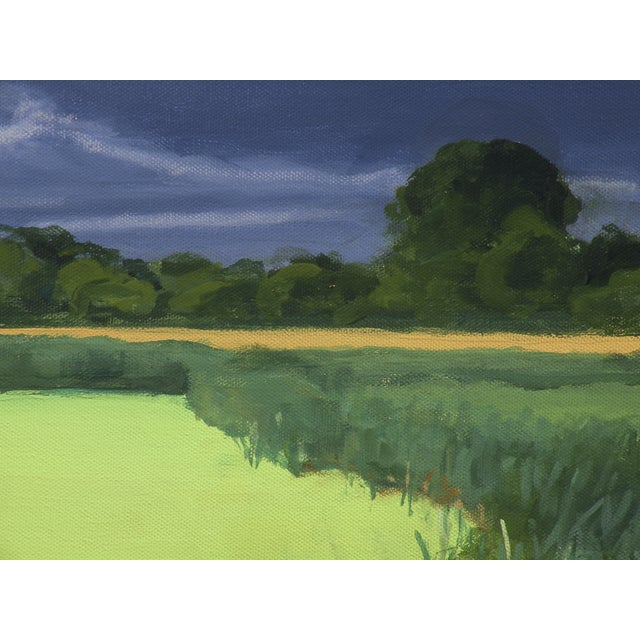 Original Landscape Painting, Algae Covered Pond - Image 4 of 5