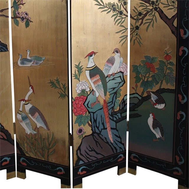 Mid 20th Century Chinese Folding Screen - Image 3 of 6