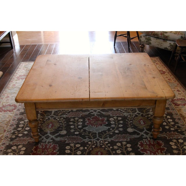 Antique Pine Farmhouse Coffee Table