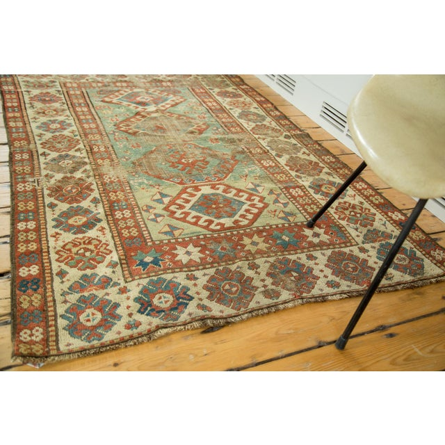 "Antique Kazak Rug - 4'2"" X 6'3"" - Image 3 of 9"