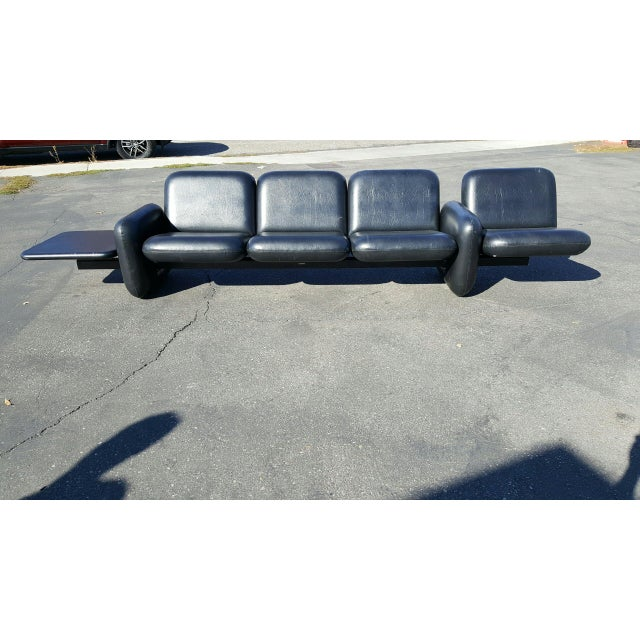 Ray Wilkes for Herman Miller Spaceage Chiclet Sofa in Black Leather - Image 2 of 11