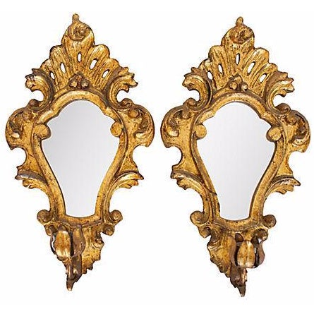 Image of 19th Century Gilt Wood Sconces - A Pair