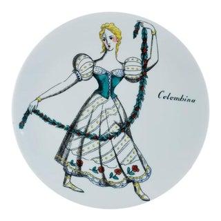 Piero Fornasetti Commedia Dell'arte Maschere Italiane Plates - Set of 4