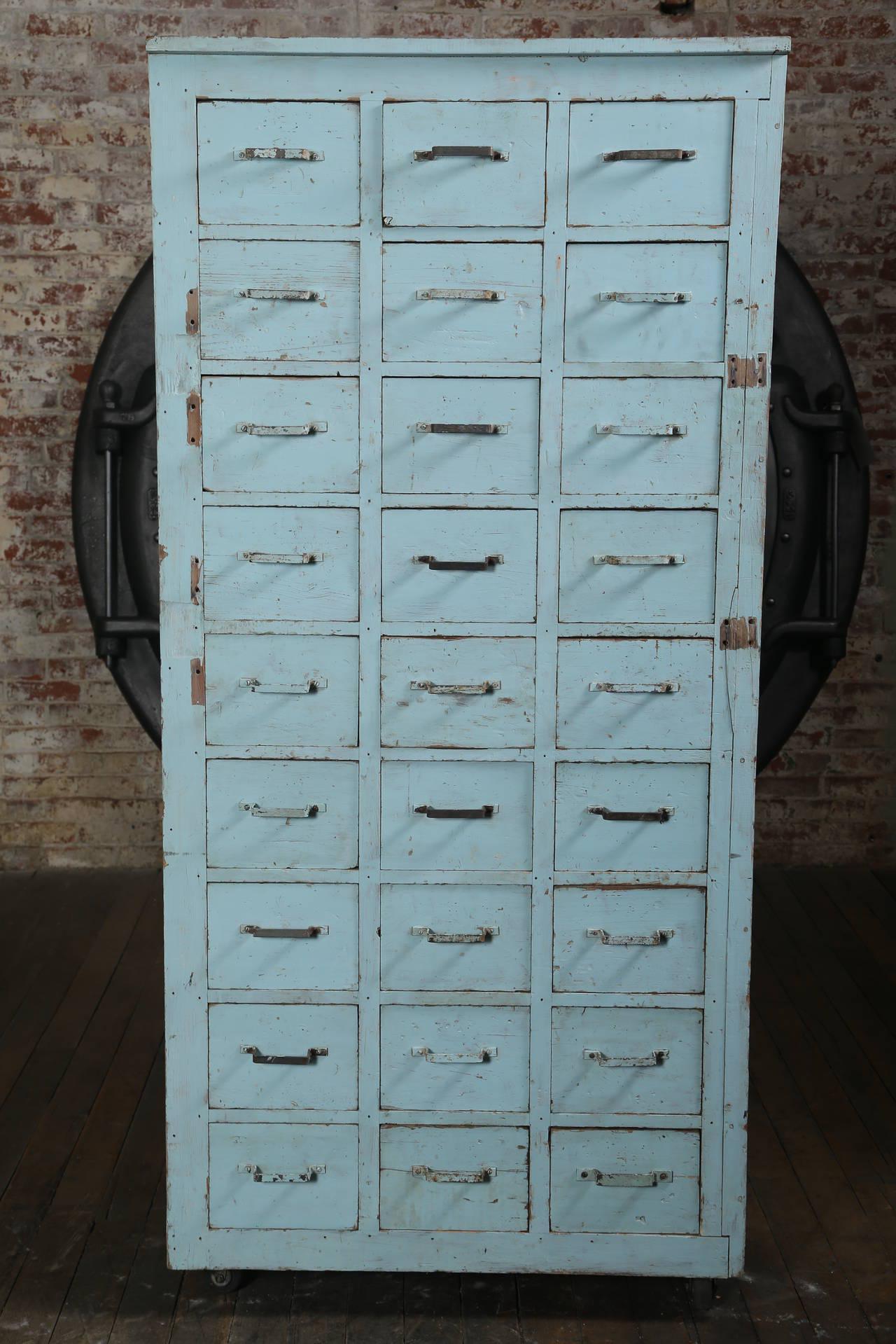 Image of Vintage Multi-Drawer Cabinet