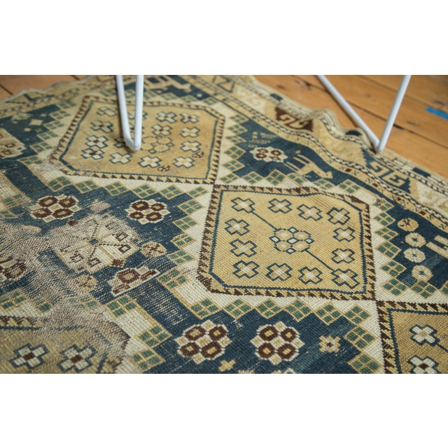"""Vintage Fragmented Caucasian Square Rug - 3'9"""" x 4'8"""" - Image 3 of 7"""