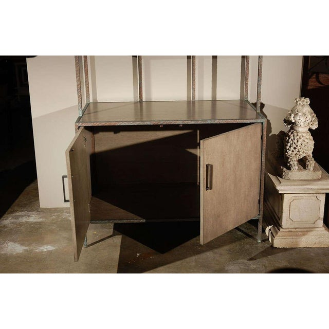 Paul Marra Bookcase in Faux Bronze - Image 8 of 8
