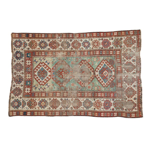 "Antique Kazak Rug - 4'2"" X 6'3"" - Image 1 of 9"
