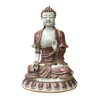 Vintage Chinese Sitting Amitabha Buddha Statue