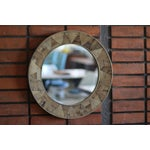 Image of Reclaimed Wood Round Mirror