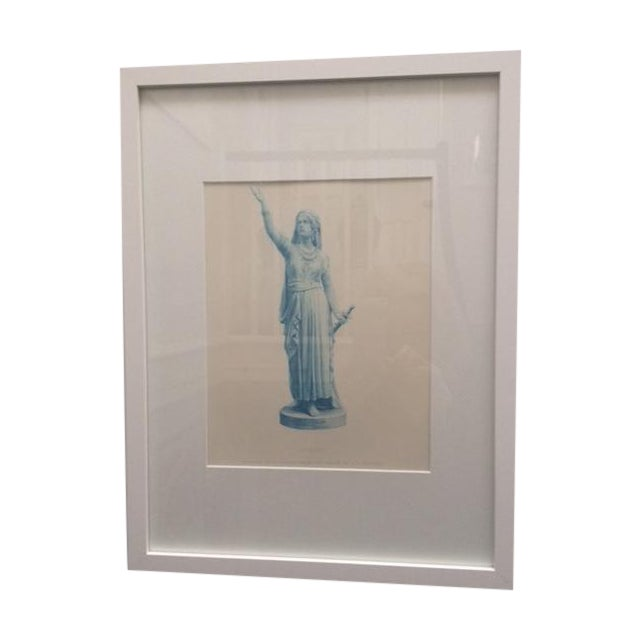 """Antique Collectors """"Judith"""" Statue Engraving - Image 1 of 5"""