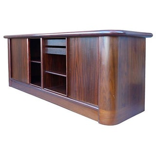Danish Modern Rosewood Buffet with Tambour Doors