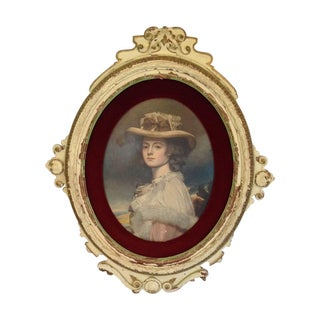 Victorian Portrait in Distressed Wood Frame