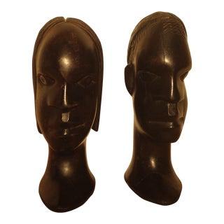 African Art Wooden Figurines - A Pair