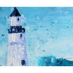 """Image of """"Lighthouse #1"""" Blue Painting by Celeste Plowden"""
