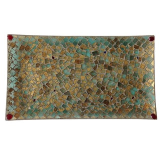 Gold Foil Glass Mosaic Tray