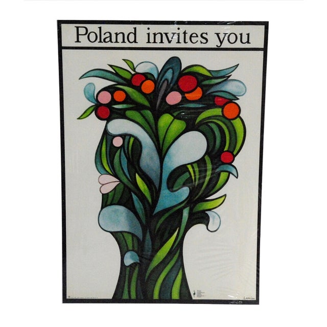 Image of Poland Invites You, Travel Poster Jan Lenica