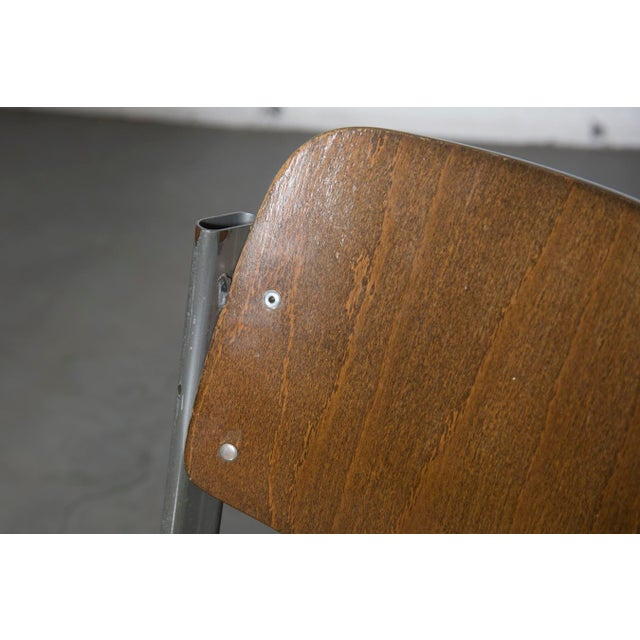Retro Industrial School Desk and Chair Set - Image 10 of 11