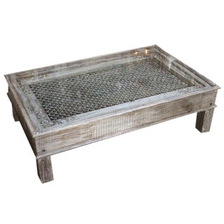 Antique Iron Jali Coffee Table