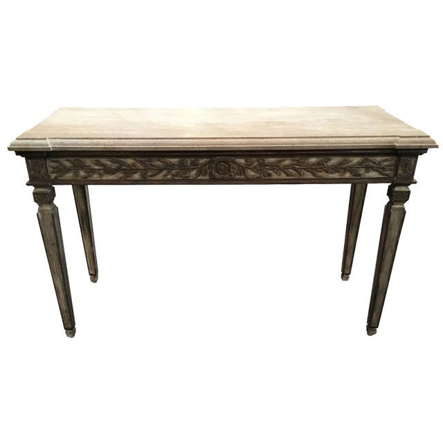 John Nelson Italian Console with Limestone Top - Image 1 of 6