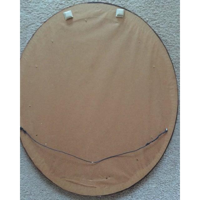 Vintage Gilt Wood Oval Mirror - Image 5 of 8
