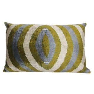 Sage & Mineral Blue Silk Velvet Pillow