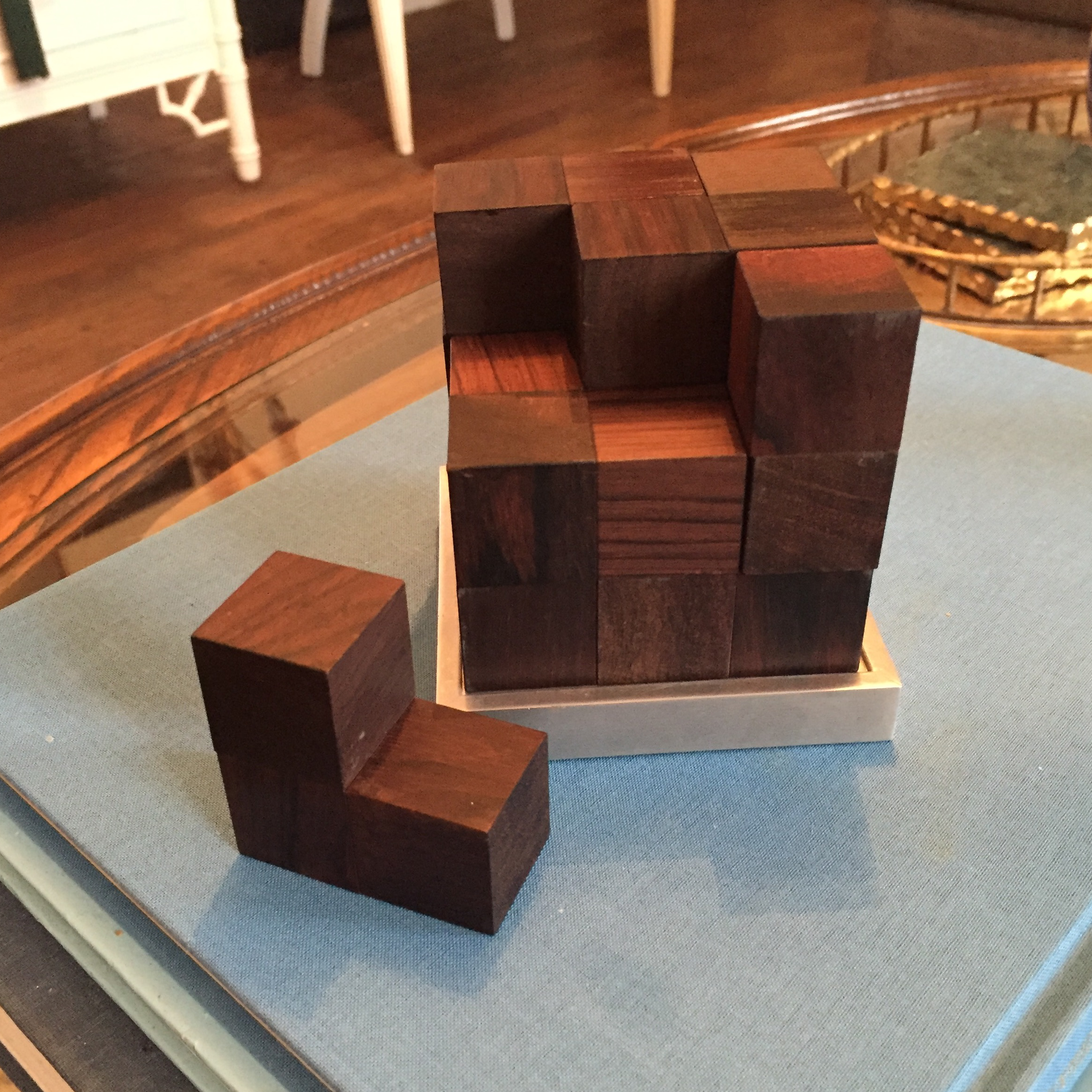 Mid Century Modern Danish Rosewood Teak Parker Brothers Cube Puzzle Game    Image 8 Of 11