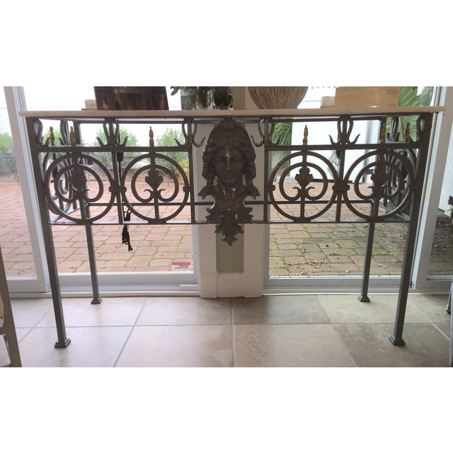 Antique Marble Top Console Table - Image 2 of 11