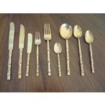 Image of Vintage Faux Bamboo Thai Flatware Set