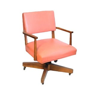 Vintage Coral Desk Chair