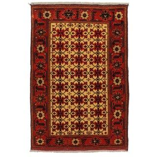 RugsinDallas Vintage Tribal Turk-Men Afghan Hand Knotted Wool