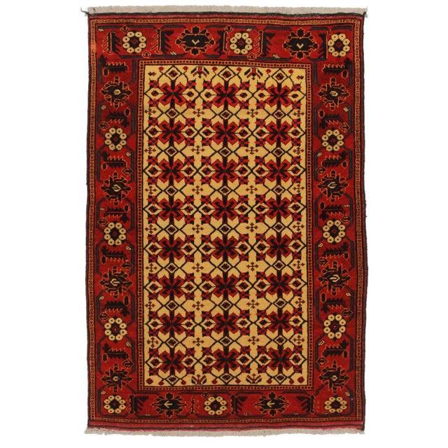 RugsinDallas Vintage Tribal Turk-Men Afghan Hand Knotted Wool - Image 1 of 2